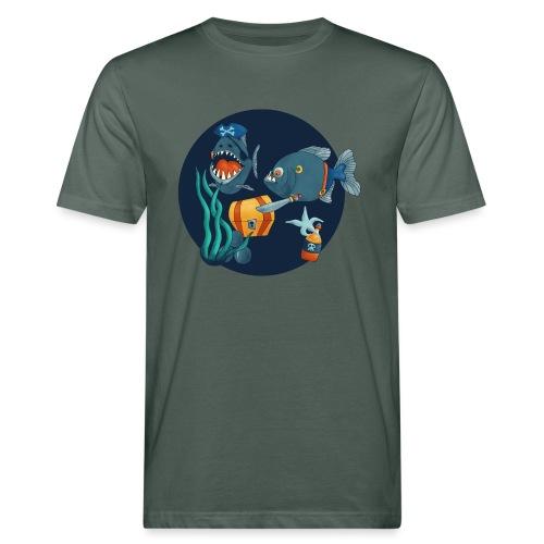 pirate piranhas - Männer Bio-T-Shirt