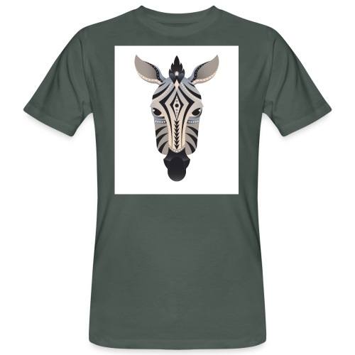 zebra abstract - Männer Bio-T-Shirt