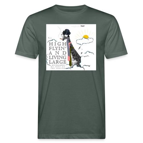 High flying Giraffe - Miesten luonnonmukainen t-paita