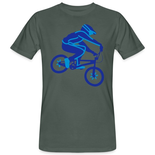 BMX Rider Dark - Mannen Bio-T-shirt