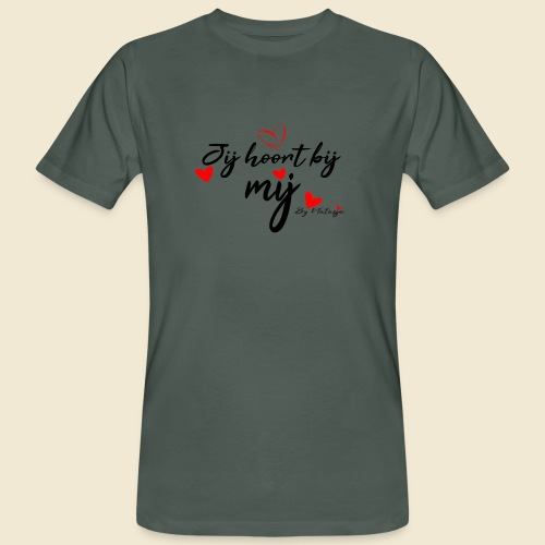 Jij hoort bij mij hart by Natasja Poels - Mannen Bio-T-shirt