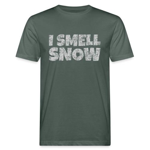 I Smell Snow (Grau) Schnee, Winter, Wintersport - Männer Bio-T-Shirt