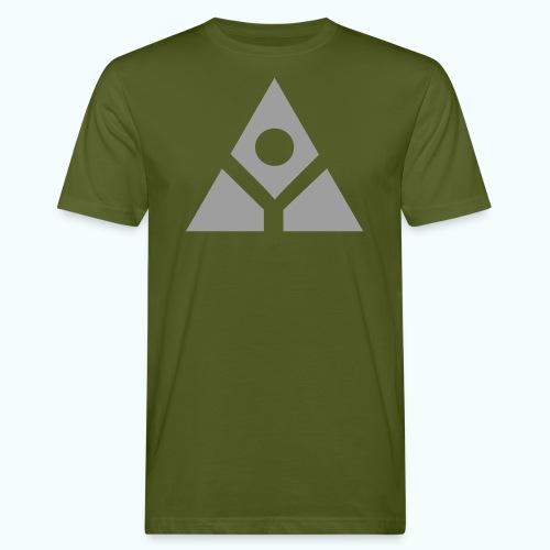 Sacred geometry gray pyramid circle in balance - Men's Organic T-Shirt