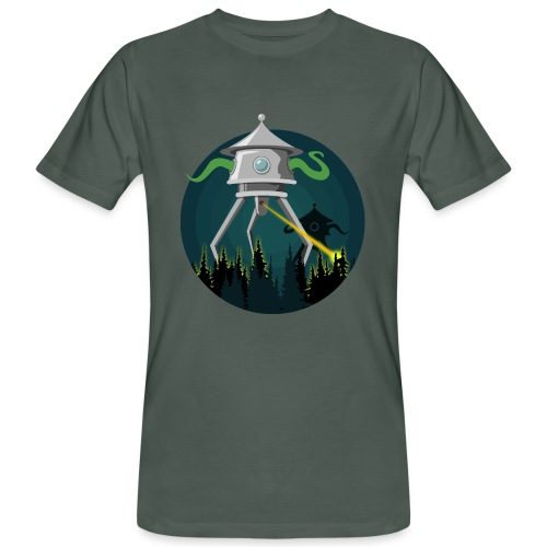 Aliens from The War of the Worlds - H. G. Wells - T-shirt ecologica da uomo