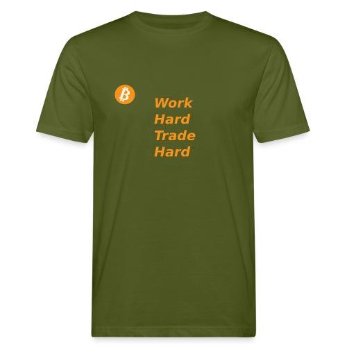 Trade Hard Bitcoin - Mannen Bio-T-shirt