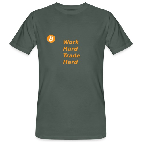 Trade Hard Bitcoin - Mannen Bio-T-shirt