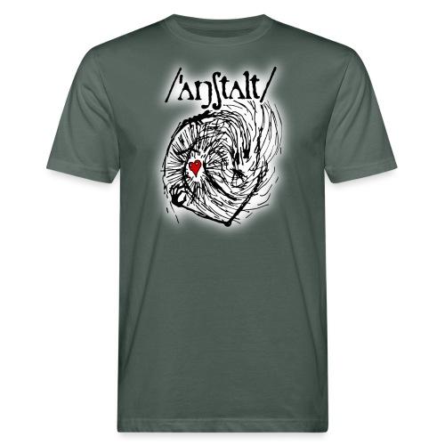 wesen mit herz und logo - Männer Bio-T-Shirt