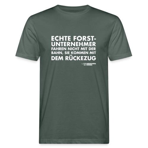 Forstunternehmer | Rückezug weiß - Männer Bio-T-Shirt