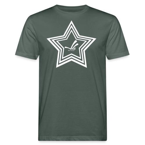Bemage Logo 3STAR weiß png - Männer Bio-T-Shirt