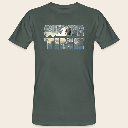 Mops Sommer - Männer Bio-T-Shirt