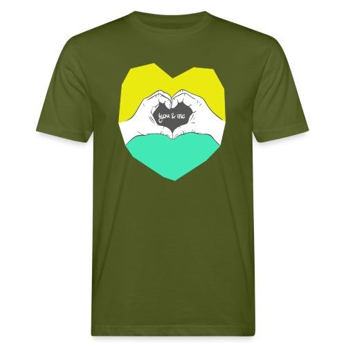 hearthands you & me Poly Herz illustration - Männer Bio-T-Shirt