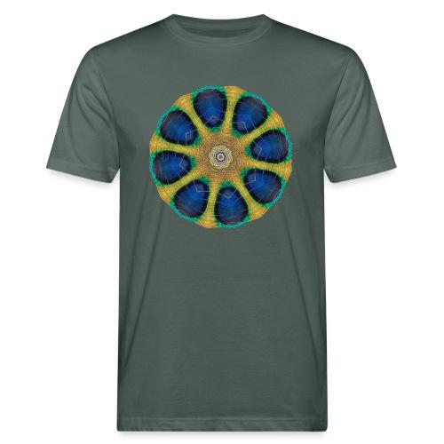 Pfau Kaleidoskop - Männer Bio-T-Shirt