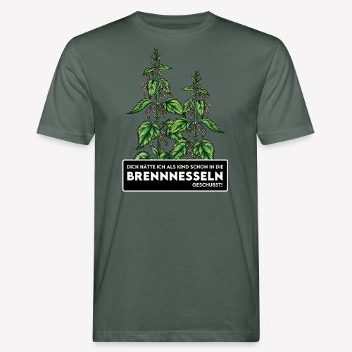 Brennnessel Schubsen - Männer Bio-T-Shirt