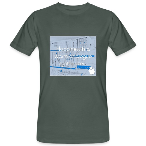 Happiness is a warm Analogue Synthesizer - Men's Organic T-Shirt