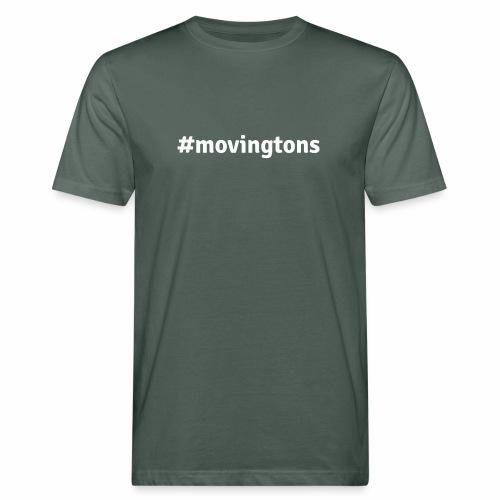 Moving Tons White - Männer Bio-T-Shirt