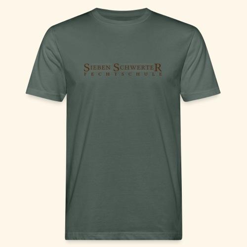 Fechtschule Schriftzug dunkel - Männer Bio-T-Shirt