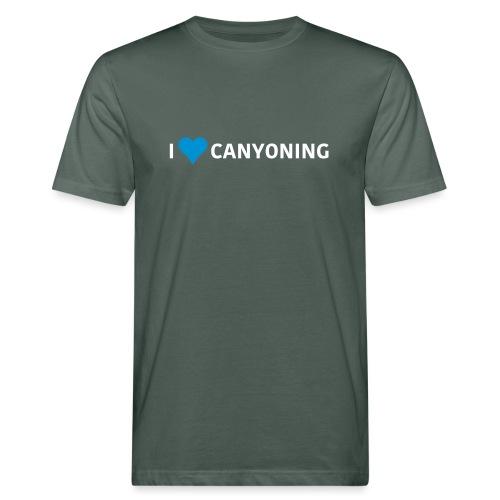 I Love Canyoning - Männer Bio-T-Shirt