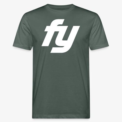Logo Trendy Weiss - Männer Bio-T-Shirt