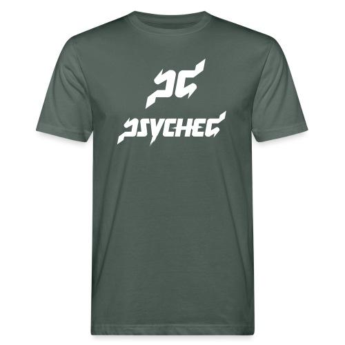 psyched-logo-finalwhite - Mannen Bio-T-shirt