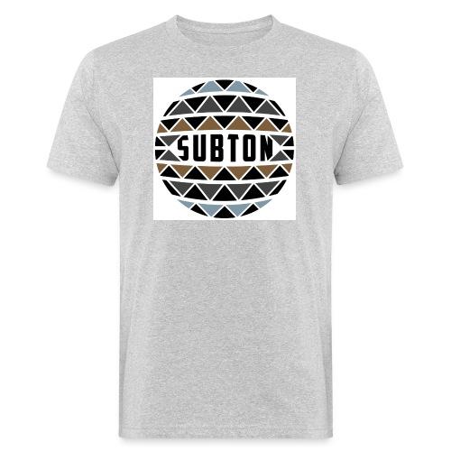 wereldbol_subton2-jpg - Men's Organic T-Shirt