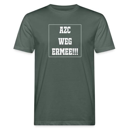 Protest t-shirt tegen de vluchtelingen. - Mannen Bio-T-shirt