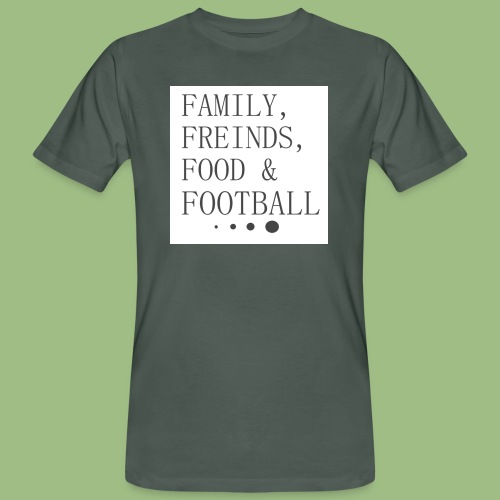 Family, Freinds, Food & Football - Ekologisk T-shirt herr
