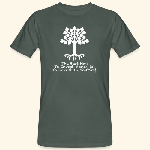 Printed T-Shirt Tree Best Way Invest Money - T-shirt ecologica da uomo