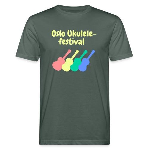 Fire ukuleler - Økologisk T-skjorte for menn