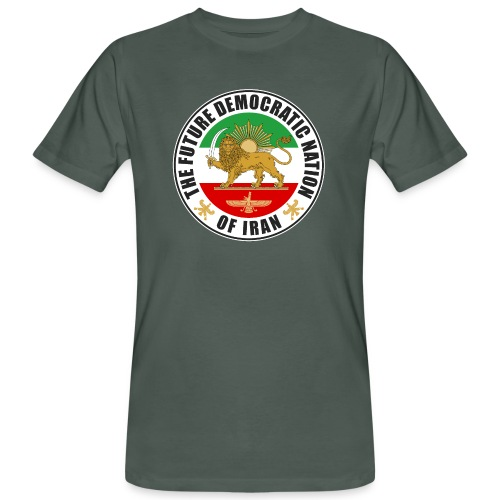 Iran Emblem Old Flag With Lion - Men's Organic T-Shirt