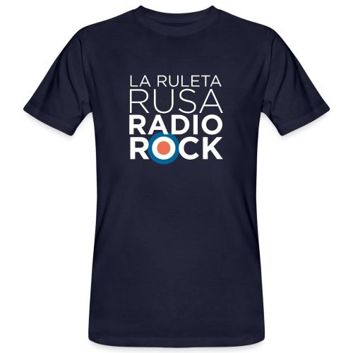 La Ruleta Rusa Radio Rock. Retrato blanco - Camiseta ecológica hombre