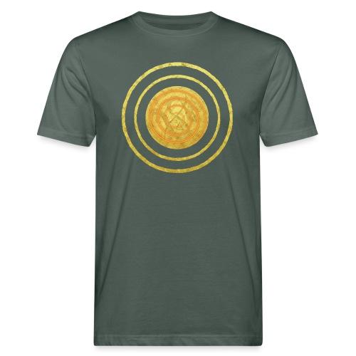 Glückssymbol Sonne - positive Schwingung - Spirale - Männer Bio-T-Shirt