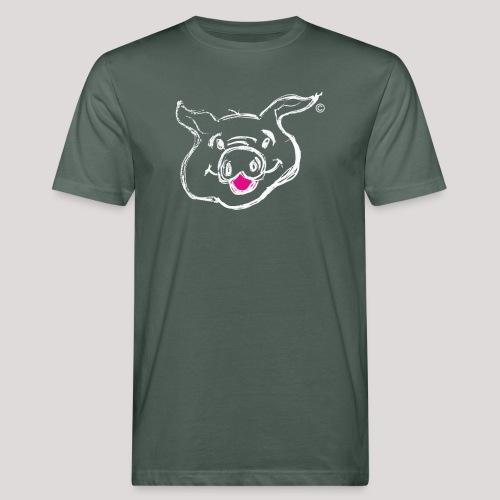 HAPPY PIGPIGGY White - Men's Organic T-Shirt