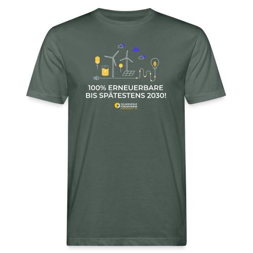 100% Erneuerbare 2030 w - Männer Bio-T-Shirt