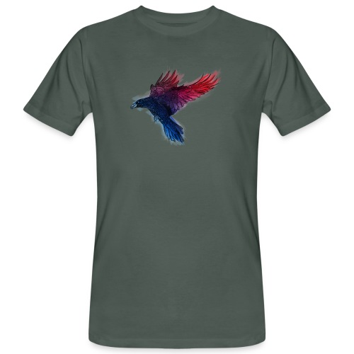 Watercolor Raven - Männer Bio-T-Shirt