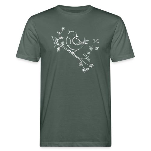 little Robin white - Männer Bio-T-Shirt