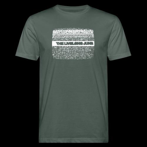 The Livelong June - Logo on white noise - Ekologisk T-shirt herr