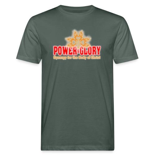 Power and Glory Logo glow red and orange - Men's Organic T-Shirt