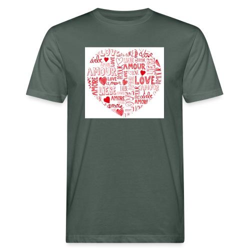 T-shirt texte amour - T-shirt bio Homme