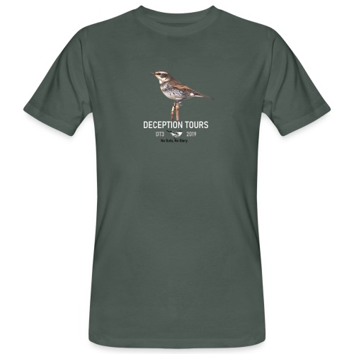 DT Bruine Lijster - Mannen Bio-T-shirt