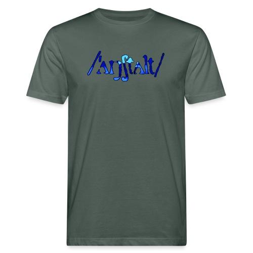 /'angstalt/ logo gerastert (blau/schwarz) - Männer Bio-T-Shirt