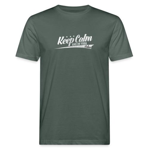 Yoga Relax Keep Calm - Männer Bio-T-Shirt