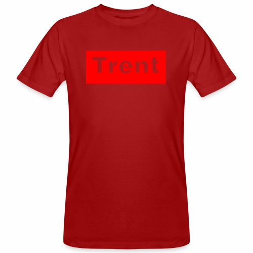 TRENT classic red block - Men's Organic T-Shirt