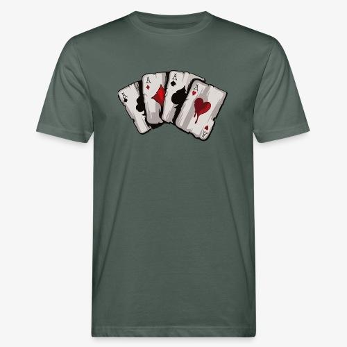 4 Asse und die NUTS - Männer Bio-T-Shirt