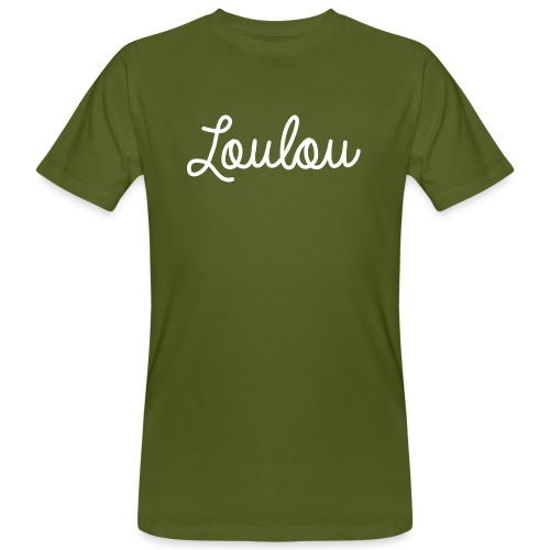 Logo-Wit - Mannen Bio-T-shirt