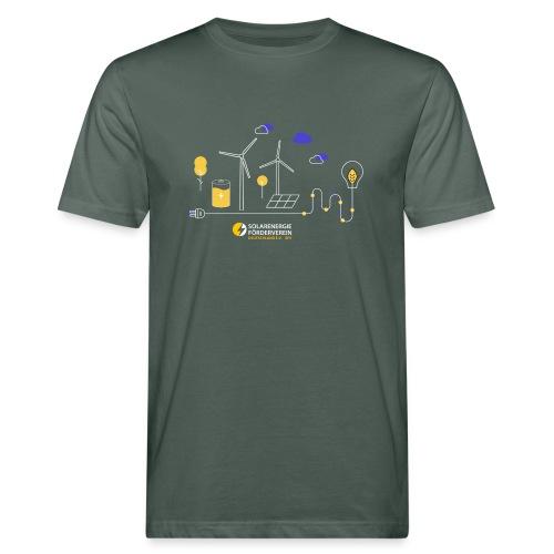 Erneuerbare Weiß - Männer Bio-T-Shirt