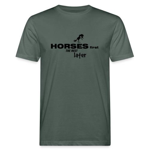 horsesfirst2 - Männer Bio-T-Shirt