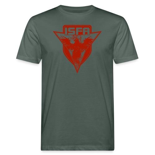 isfa logo 1c rot - Männer Bio-T-Shirt