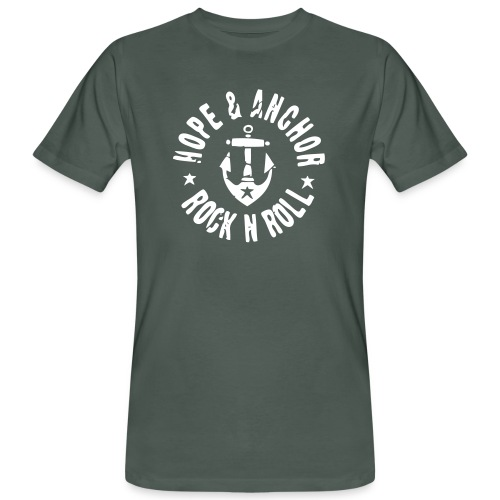 HOPE & ANCHOR-Rock´n´Roll - Männer Bio-T-Shirt
