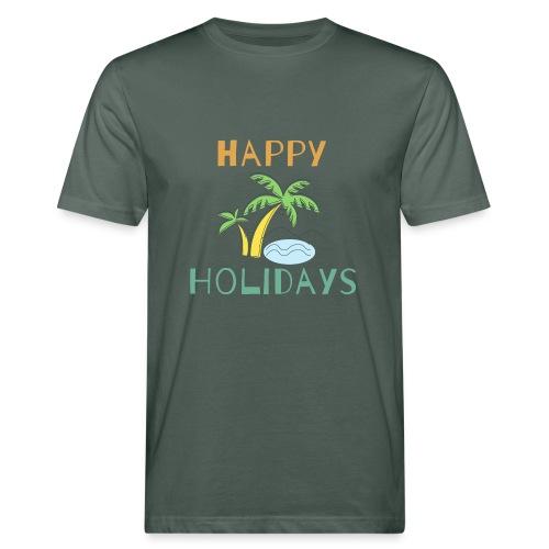Happy Holidays - Männer Bio-T-Shirt