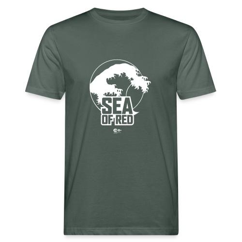 Sea of red logo - white - Men's Organic T-Shirt